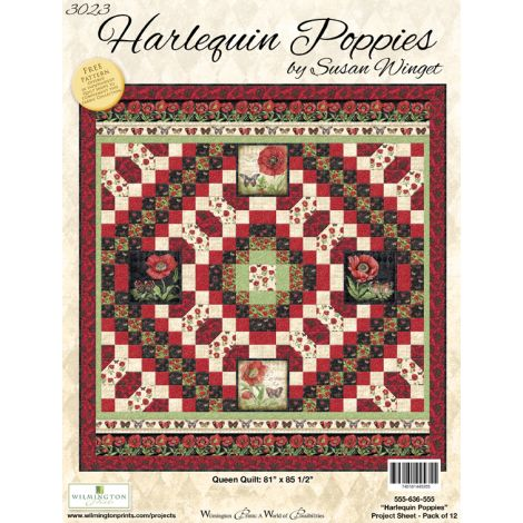 Harlequin Poppies 3023-39635-112 cream harlequin texture by Susan Winget  for Wilmington